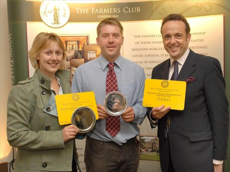 Jo Maynard and Andrew Ham  found entering the  Farm Business Tenancy  competition has helped them in  their careers